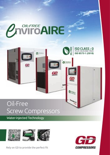 Oil-Free Screw Compressors Water-injected Technology