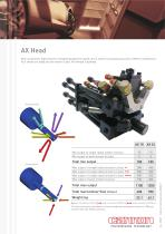AX Mixing Head: multicomponent high pressure head designed to handle up to 5 streams simoultaneously