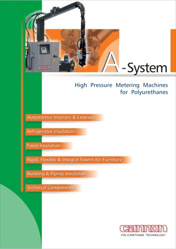 High Pressure Metering Machines for Polyurethanes A-System
