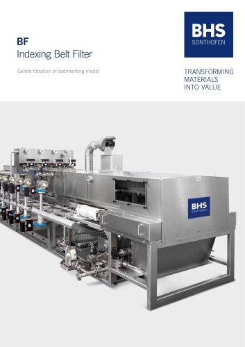 Indexing belt filter