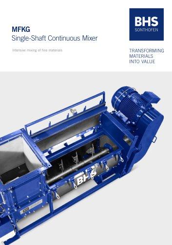 MFKG Single-Shaft Continuous Mixer