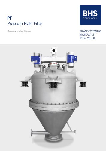 Pressure plate filter (PF)