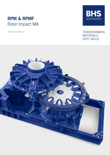 RPM & RPMF Rotor Impact Mill