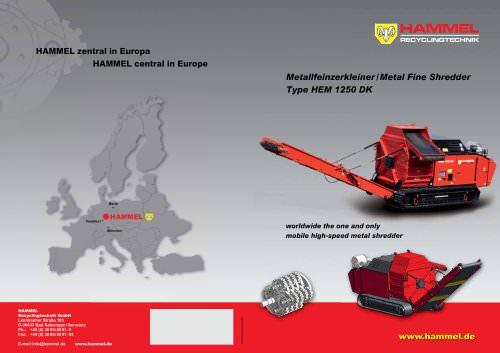 HAMMEL Metal Fine Shredder