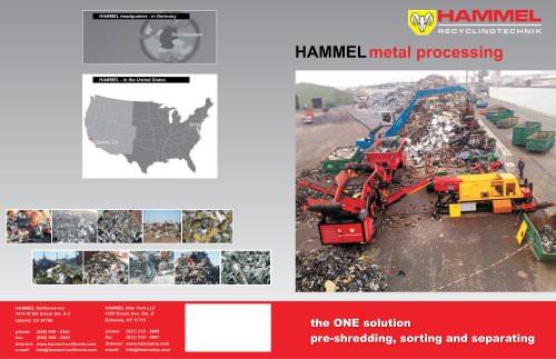 HAMMEL scrap processing plant