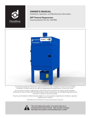 DPF Thermal Regenerator IOM