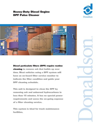Emissions DPF Cleaning System - Pulse Cleaner