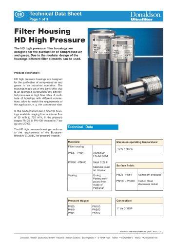 Filter Housing HD High Pressure