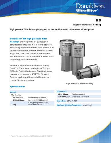 HD High Pressure Filter Housings