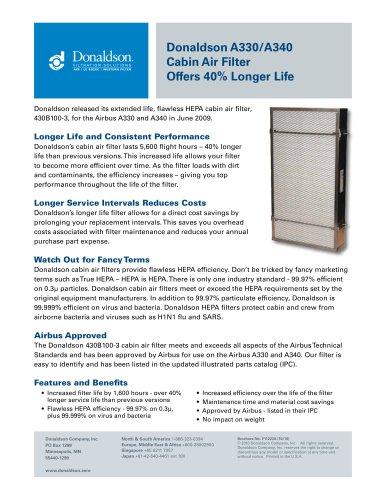 Longer Life A330/A340 Cabin Air Filter