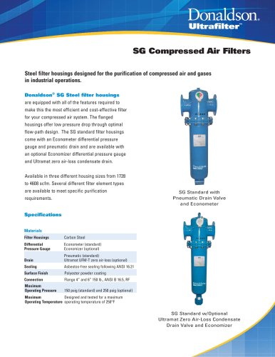 SG Compressed Air Filters