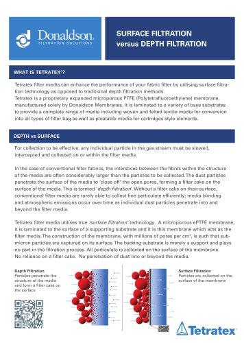 Surface vs Depth Filtration Brochure