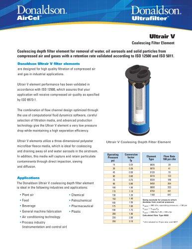 Ultrair V Coalescing Filter Element