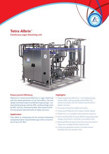 Tetra Albrix Continuous sugar-dissolving unit
