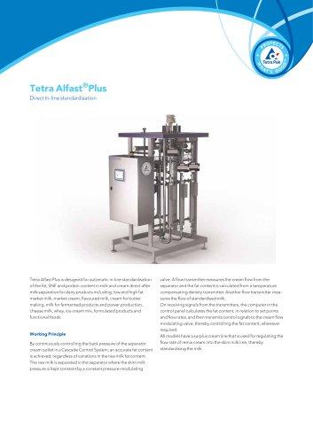 Tetra Alfast® Plus Direct In-line standardization