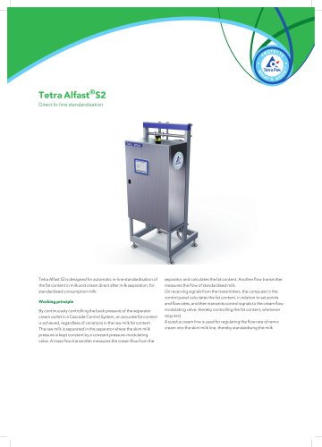Tetra Alfast®S2 Direct In-line standardization
