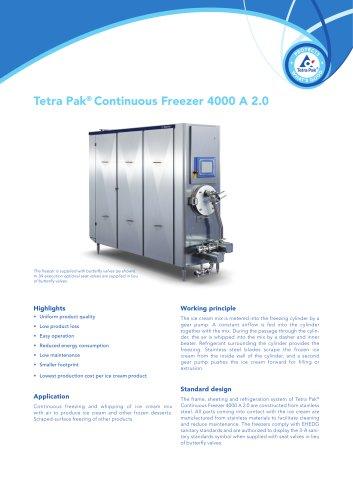 Tetra Pak® Continuous Freezer 4000