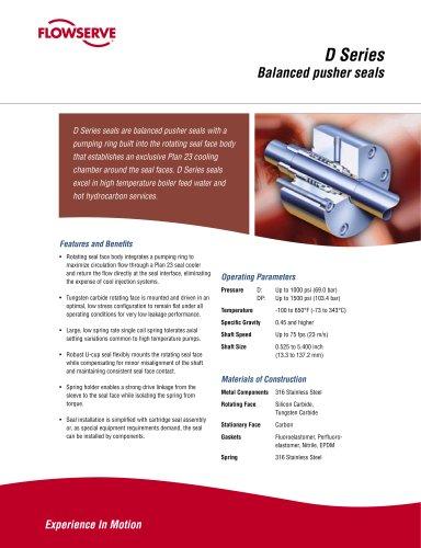 D Series Seal Brochure