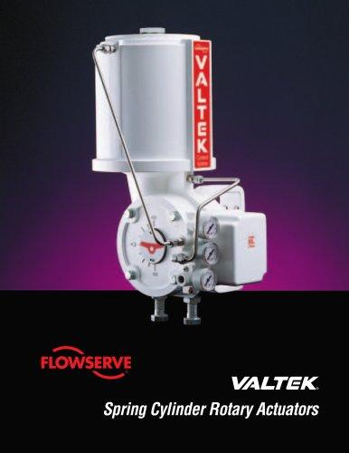 Valtek Spring Cylinder Rotary Actuator Technical Brochure