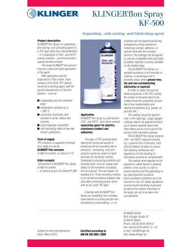 KLINGER®flon-Spray