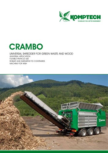 crambo universal shredder for green waste and wood