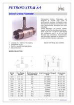 Turbine Flowmeters for gas and liquids