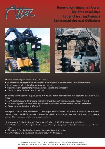 Auger drives and augers