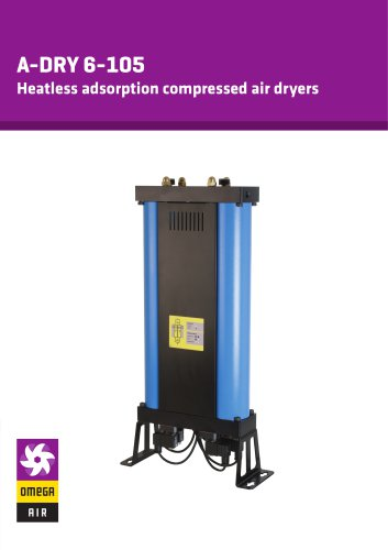A-DRY 6-105 - Heatless adsorption compressed air dryers