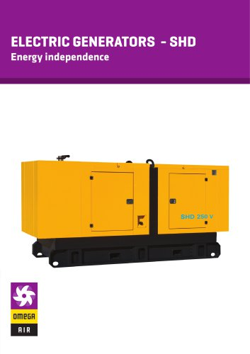 ELECTRIC GENERATORS - SHD - Energy independence