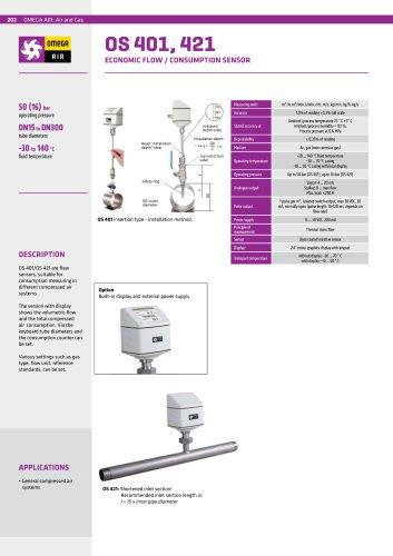 Flow / consumption sensor OS 401 & OS 421