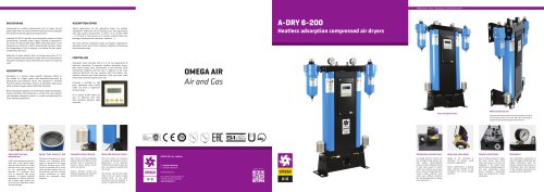Heatless adsorption compressed air dryers A-DRY