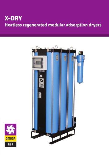 X-DRY - Heatless regenerated modular adsorption dryers