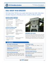 Dual-Shear® M160 Two-Shaft Shredder