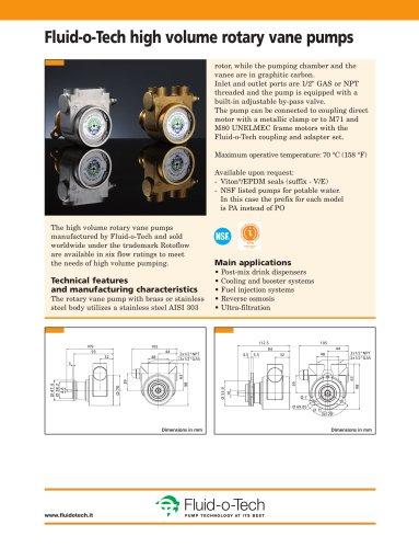 Fluid-o-Tech high volume rotary vane pumps