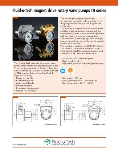 Fluid-o-Tech magnet drive rotary vane pumps TH series