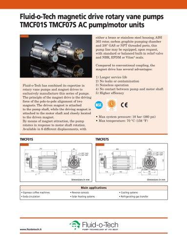 Fluid-o-Tech magnetic drive rotary vane pumps