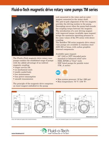Fluid-o-Tech magnetic drive rotary vane pumps TM series