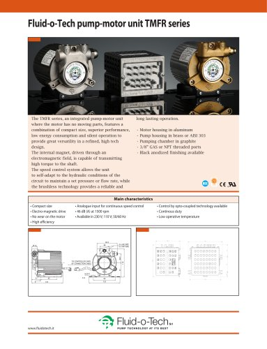 Fluid-o-Tech pump-motor unit TMFR seriesØ