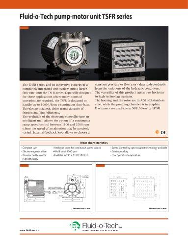 Fluid-o-Tech pump-motor unit TSFR series