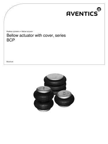 Bellow actuator with cover, series BCP