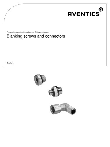 Blanking screws and connectors