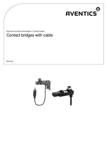 Contact bridges with cable
