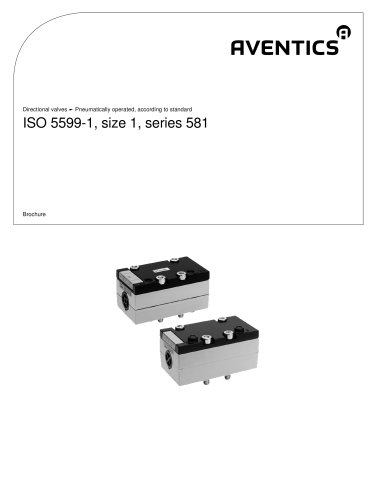 ISO 5599-1, size 1, series 581pneumatically operated