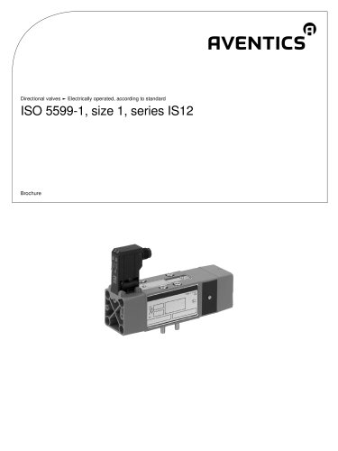 ISO 5599-1, size 1, Series IS12 electrically operated