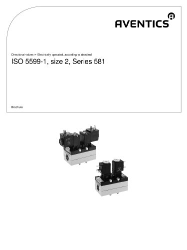 ISO 5599-1, size 2, Series 581 electrically operated