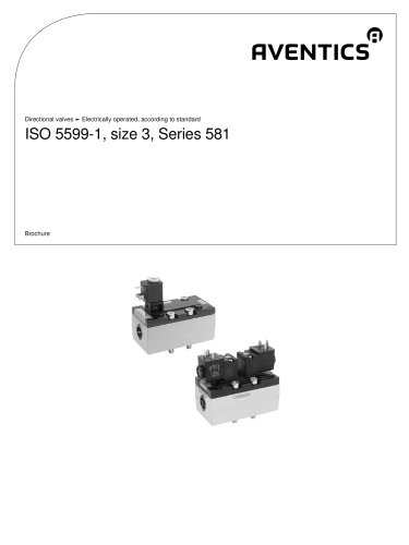 ISO 5599-1, size 3, Series 581 electrically operated
