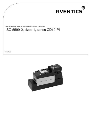 ISO 5599-2, sizes 1, series CD10-PI electrically operated