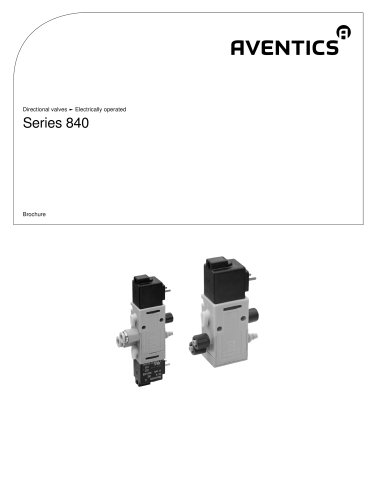 Series 840 electrically operated