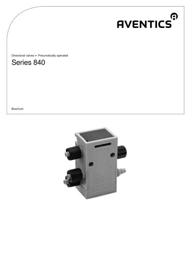 Series 840 pneumatically operated