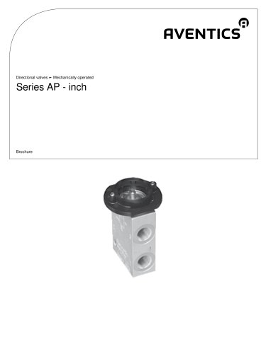 Series AP - inch mechanically operated
